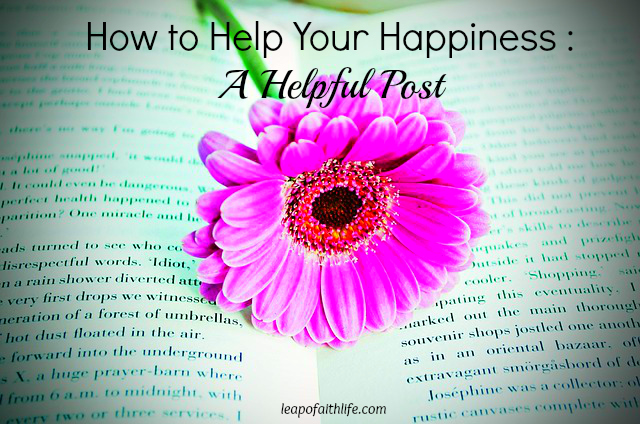 How to Help Your Happiness