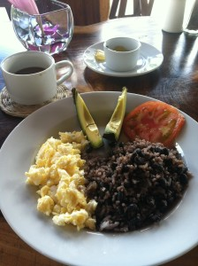 Rice and beans, sans delicious natilla.